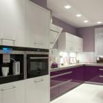 Dobór kolorów w kuchni - aranżacja Wszechobecny Fiolet