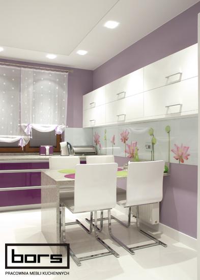 aranżacja kuchni wszechobecny fiolet tarnowskie g243ry